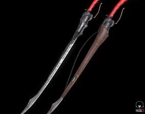 Low poly Revolver Sword - Game Asset Giveaway 3D model
