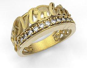 3D print model Malia name ring