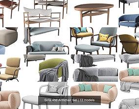 Sofa and Armchair Set comfort 3D model