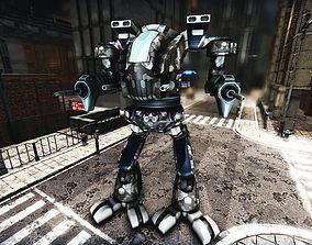 Robot Mech Titan Plasma Rigged 3D