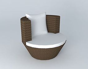 Round armchair BALI houses the world 3D