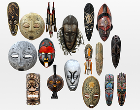 3D asset African Mask Collection - Native Tribal Mask 2