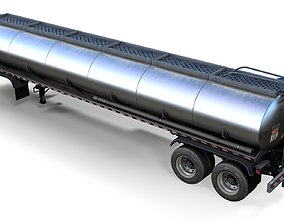 3D asset Fuel tanker trailer