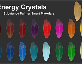 Substance Painter Energy Crystals Smart Materials 3D model