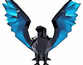 Hawk Low Poly 3D asset