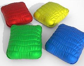 Poufs pillow multi-colored bright 3D model
