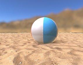 3D model low-poly Beach Ball
