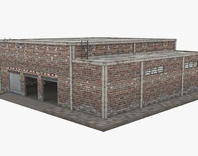 3D asset game-ready Garage Building