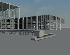 3D model Domestic Airport terminal Nashik