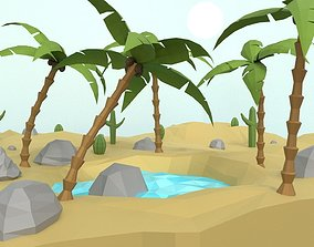 3D model Low Poly Oasis
