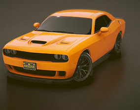 3D model Low-poly Sports car 6