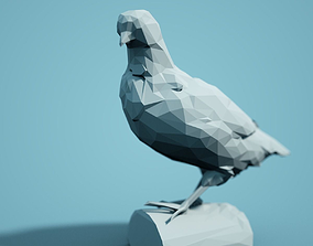 Low Poly Bird Model animals zoo