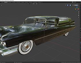 3D Cadillac Superior Porta Hearse Flowers 1959