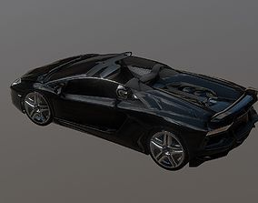 3D model Lamborghini Aventador Roadster Black
