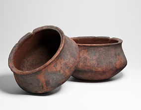 PBR Ancient African ceramics bowl 3d scan