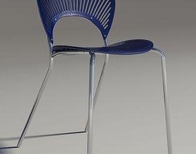 3D Chair Trinitad Style Blu Wood