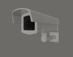 Security Camera 3D model rigged low-poly