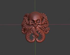 3D print model skull kraken ring