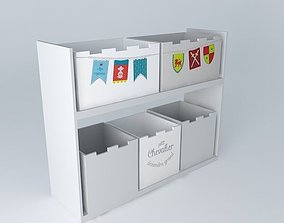 3D Children furniture storage lockers