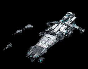 Battlestar - Battleship 22 3D model