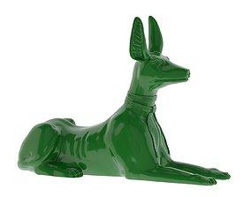3D asset Egyptian God Anubis Dog 3D Print