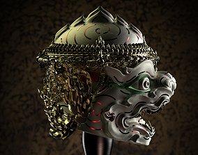 3D printable model Hanuman - Khon Mask - Thai Pattern