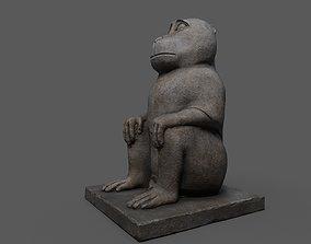 Baboon Statue 3D asset