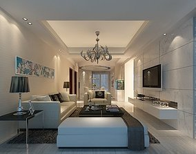 3D Modern Drawing Room - 03