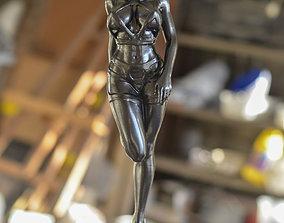 Mujer con arnes rojo 3D printable model