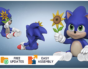 Baby Sonic the Hedgehog - 3D FanArt -