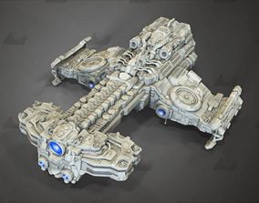 Spaceship 3D STL 3mf Fbx Model Relief for CNC Router 3D
