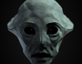 Alien Head Textured 3D model