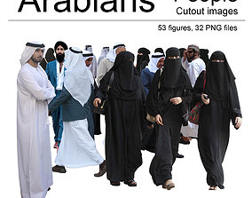 Arabian People Cutout Images 3D