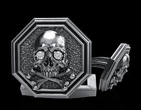 cufflinkskull 3D printable model skull cufflinks