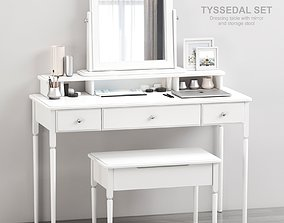Ikea TYSSEDAL Dressing table with mirror and 3D model 2