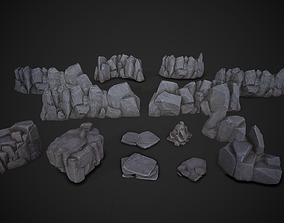 Stylized Rock Pack 3D asset game-ready