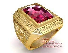 2080 Diamond Men Ring 3D print model
