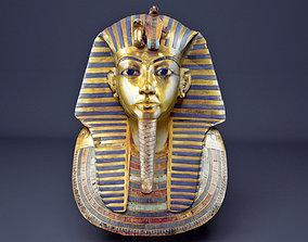 Egyptian kING Tutankhamun Golden Mask 3D asset