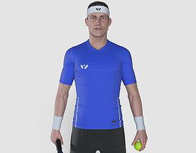 Male Tennis Player 3D