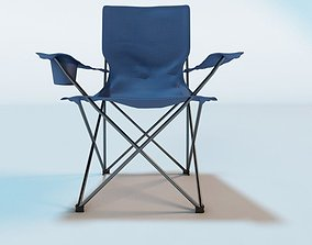 3D model blue Camping Chair