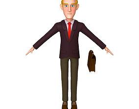 3D model Business Man Cartoon 02