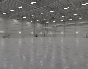 3D model Airplane Hangar Interior 1