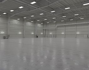 3D model Hangar Interior 1