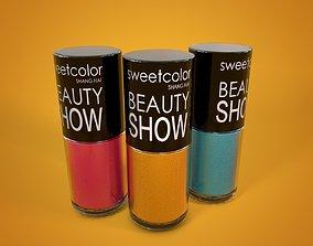 3D model nail polish beauty
