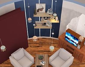 Office interior 01 3D model