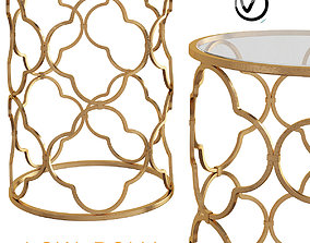 3D asset Benzara Superb Metal Glass Accent Table