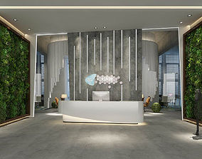 3D model Office meeting room reception hall 16