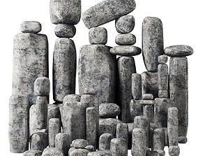 3D model Stone block