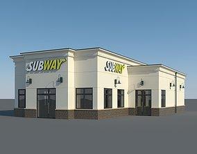 3D model Subway Restaurant