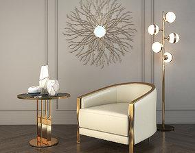 3D model Modern Armchair Set